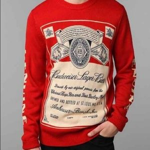 80s Unisex Genuine Budweiser Sweater By Lancaster